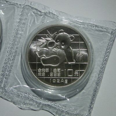 1989 Chinese Panda 1 oz .999 Silver China 10 Yuan Double Sealed