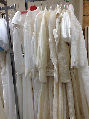 Lot A  10 Wedding Dresses Gowns Renaissance Faire Costumes White Ivory Lace Bead