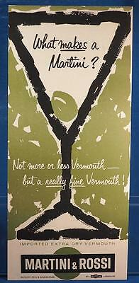 Vintage Magazine Ad Print Design Advertising Martini & Rossi Extra Dry Vermouth
