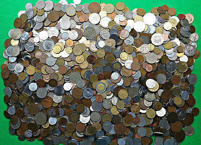 Bag of 20+ lbs Mixed Foreign World Coins Pounds of Fun bulk lot kg !! 2