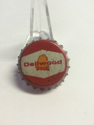 VIntage Dellwood Soda Bottle Cap NOS Cork Lined. Cow Bell Picd