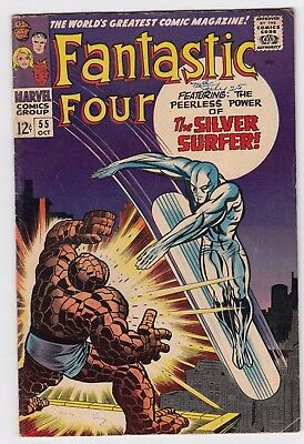 FANTASTIC FOUR #55 (1966)   LOW to MID GRADE  SILVER SURFER!!!   JACK KIRBY art