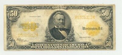 $50 large size (Series 1922) Gold Certificate higher grade and no reserve