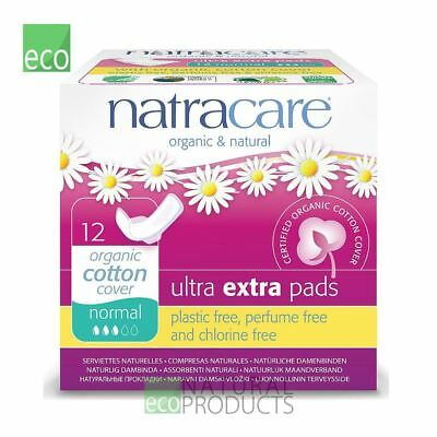Natracare Organic Cotton Ultra Extra Pads 12 Normal