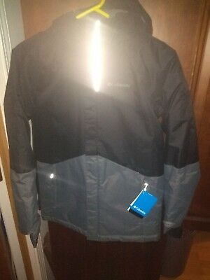 NWT*Columbia Frozen Creek Jacket Black/Gray OMNI-HEAT lined YouthLRetail $90.00