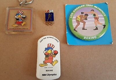 1984 Olympic Pins - Los Angeles Summer Games  - Boxing - Set of Four (4) NEW