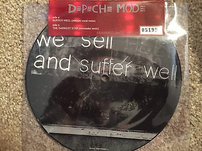 """Depeche Mode Picture Disc """"Suffer Well / The Darkest Star"""" Limited Edition 7"""""""