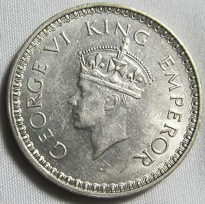 India-British 1943(b) Dot, Silver Rupee