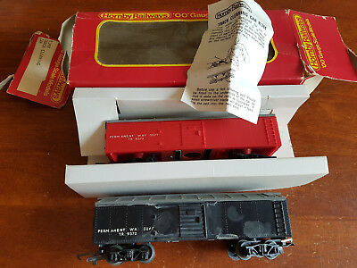 Hornby R344 Track Cleaning Wagons X 2 Good Condition Unboxed Oo Gauge(Fd)