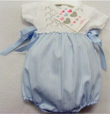 New Baby Striped Romper with Knitted Yoke