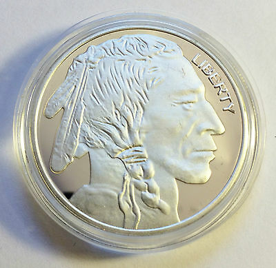 "Awesome 1 OZ German Silver ""USA Buffalo/Indian head"" Proof Coin.."