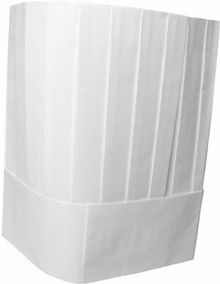 Adjustable Disposable Chef Hat Pleated Paper, White (quantity 10, size 10.25)