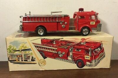 Vintage Marx Hess Red Fire Truck 1970 W Box