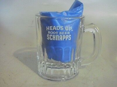 Heads Up  Root Beer Schnapps glass mug. Baby small size shot glass