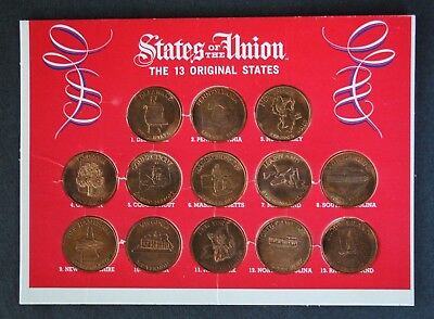 1969 Shell Oil States Of The Union: The 13 Original States Collector's Coin Set