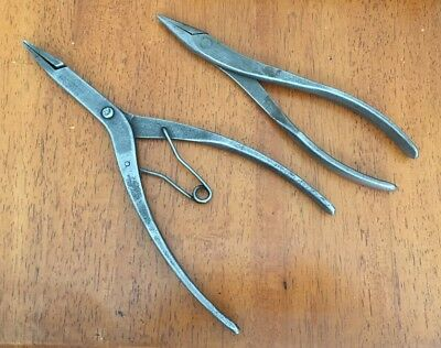 Two Vintage Pair of Snap-on Pliers 70 B  Snap Ring and 60 C Needle Nose