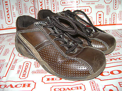 STRIDE RITE TRUMAN BROWN TODDLER BOYS SHOES size 10.5 M BROWN LEATHER