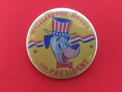"Huckleberry Hound For President 2"" Pinback"