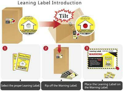 Tilt Indicator Tip Watch Shipping Package Label Tag « 6 Pack Label »
