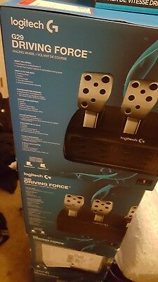 New Logitech Driving Force G29 Wheel And Pedals Set bundle with shifter and game