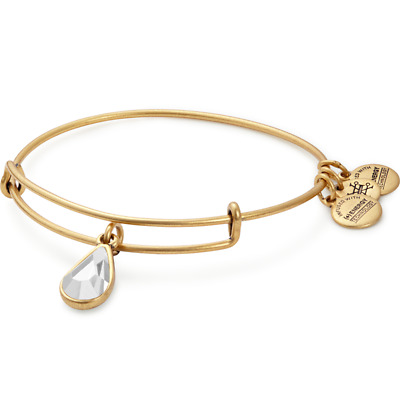 ALEX AND ANI April Birth Month Charm Bangle With Swarovski Crystal ~ A-39