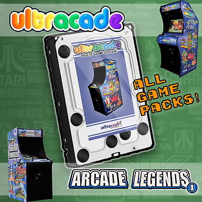 Ultracade / Arcade Legends 1 Replacement Hard Drive - 240 Games - All Game Packs