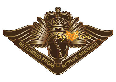 Return From Active Service Badge A4 High Quality Premium Photo Print