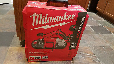 Brand New Milwaukee 2629-22 M18 Cordless Band Saw Kit 2-Batteries Charger Case