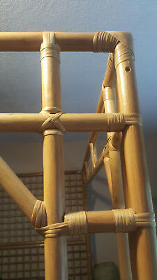Natural Bamboo Canopy Bed Island Rattan Tiki Queen Oregon Pick Up Only