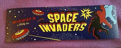 Space Invaders arcade marquee sticker 3x9.5 Buy any 3 stickers, GET ONE FREE!
