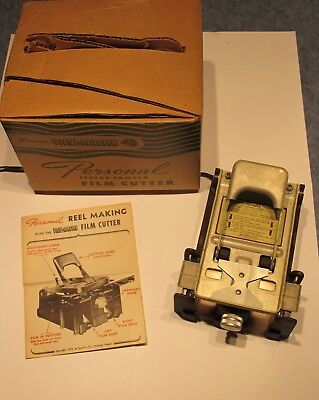 Vintage 1952 View-Master Film Cutter for Personal Stereo Camera w/ Manual + Box
