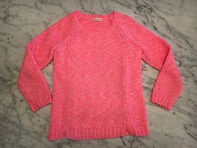 Crewcuts Girls Sz 10 Bright Hot Pink Marled Sweater Top Pullover Holiday