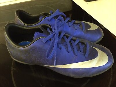 9f1810ce67ea Youth Nike Mercurial CR7 Ronaldo Indoor Turf Soccer Cleats Blue Size 4.5Y