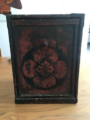 Antique Japanese red box