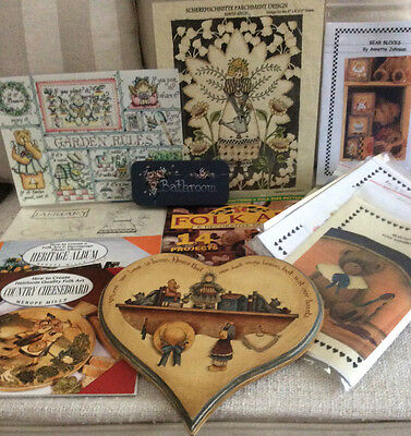 Pattern Packets Books Folk Decorative Art Magazine Hand Painted Plaques Samples