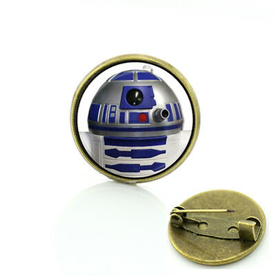 RSM1 STAR WARS R2D2 Globe Metal Pin brooch prop badge darth vader cosplay