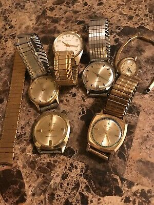 Set Of Old Vintage Watches From The 1950s