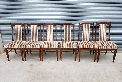 Dark wooden  Wood Dining Room 6 chairs