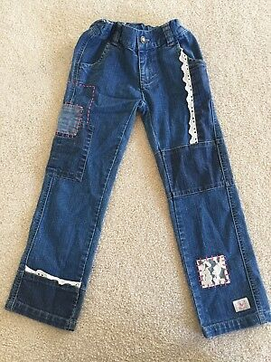 NWOT Girl's Naartjie Embellished Jeans, Size L or 6 Yrs