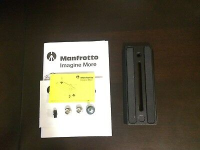 Manfrotto 500PLONG Video Camera Plate (Black) - Excellent condition