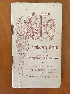 1927 AJC Anniversary Meeting Day 2 race book Adrian Knox Stakes