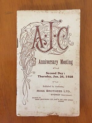 1928 AJC Anniversary Meeting Day 2 race book Adrian Knox Stakes