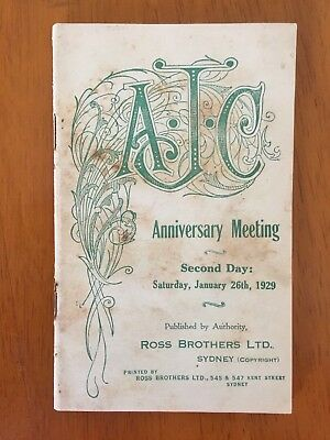 1929 AJC Anniversary Meeting Day 2 race book Adrian Knox Stakes