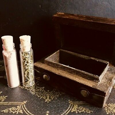 Mini Spell Box with Vials - witchcraft, Pagan, Wicca, Goth