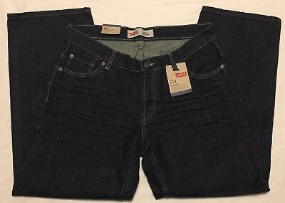 NWT Boys Size 12 Husky W32 L27 Dark Blue Levi's 550 Relaxed Jeans