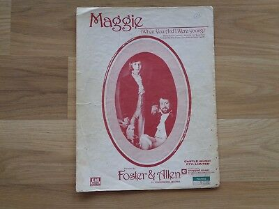 FOSTER & ALLEN_Maggie_used sheet music_ships from AUS!_22c