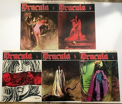 Dracula #3,4,7,8,12 New English Library 1971 complete run - Scarce!!
