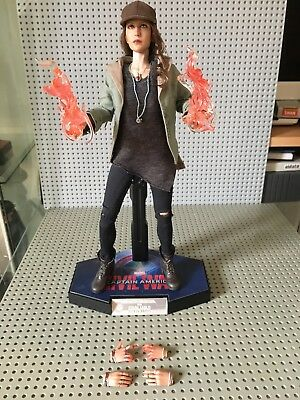 Marvel Civil War Stealth Scarlet Witch Custom Figure With Hot Toys Parts