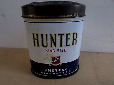 Rare Vintage American Hunter King Cigarette Tobacco Crescent Co Tin Advertising