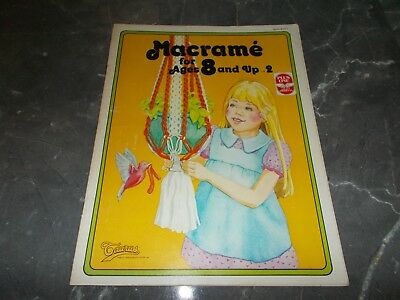 Vintage~Macrame For Ages 8 & Up #2~7 Projects~Beginners~Plant Hangers~Dog Leash